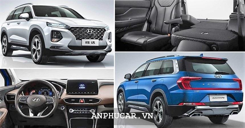 Hyundai Santafe 2020 Mau Xanh